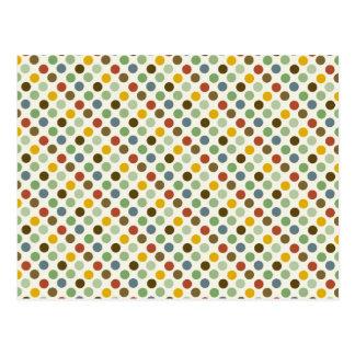Modelo fresco de los colores de tonos de la tierra tarjetas postales