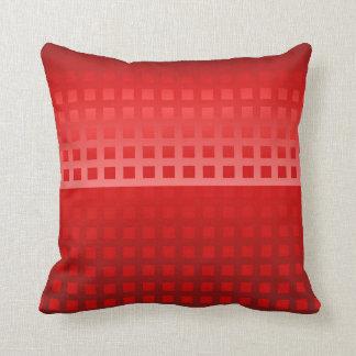 Modelo fresco de los cuadrados rojos cojín decorativo
