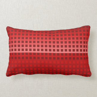 Modelo fresco de los cuadrados rojos cojín lumbar
