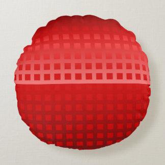 Modelo fresco de los cuadrados rojos cojín redondo