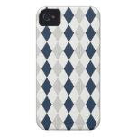 Modelo fresco del diamante de Argyle de los azules iPhone 4 Cárcasa