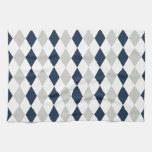 Modelo fresco del diamante de Argyle de los azules Toallas De Cocina