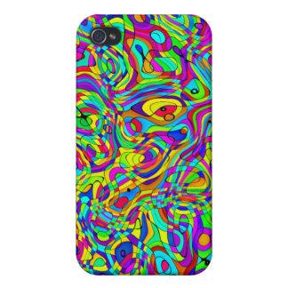 modelo fresco enrrollado del caso del iPhone color iPhone 4 Carcasas