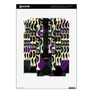Modelo fresco loco del triángulo del guepardo iPad 3 skins