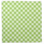 Modelo fresco, verde de la guinga servilleta de papel