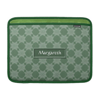 Modelo frondoso en verde verde oliva fundas para macbook air