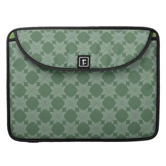 Modelo frondoso en verde verde oliva fundas para macbooks