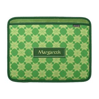 Modelo frondoso verde inconsútil funda macbook air