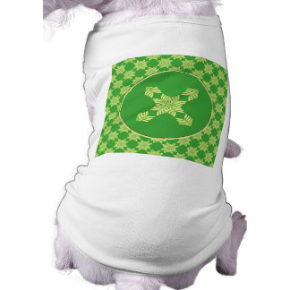Modelo frondoso verde inconsútil camisetas de mascota