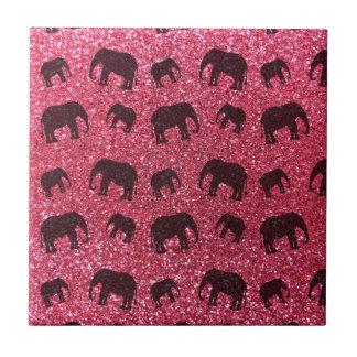 Modelo fucsia del brillo del elefante rosado teja
