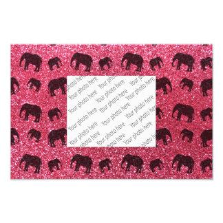 Modelo fucsia del brillo del elefante rosado cojinete