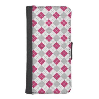 Modelo fucsia rosado y gris de muy buen gusto del  fundas cartera para teléfono