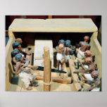 Modelo funerario de un taller de la carpintería impresiones