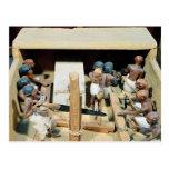 Modelo funerario de un taller de la carpintería tarjeta postal