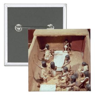 Modelo funerario de un taller de la materia textil pin cuadrado
