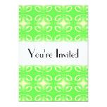 Modelo futurista verde claro invitación 12,7 x 17,8 cm