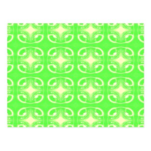 Modelo futurista verde claro postal