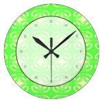 Modelo futurista verde claro relojes de pared