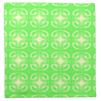 Modelo futurista verde claro servilletas
