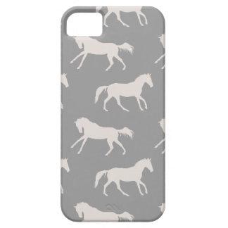 Modelo galopante gris de los caballos iPhone 5 fundas