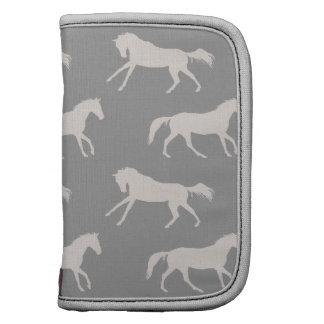 Modelo galopante gris de los caballos organizadores