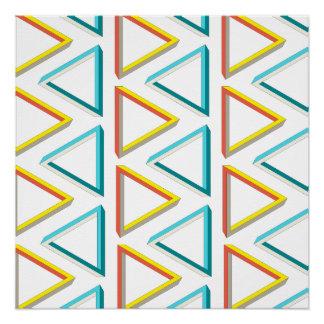 Modelo geeky de los triángulos imposibles perfect poster