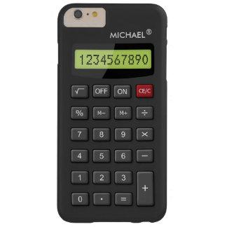 Modelo Geeky divertido de la calculadora Funda De iPhone 6 Plus Barely There