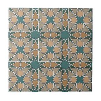 Modelo geométrico 006 de Ben Yusuf Madrasa Azulejo Cuadrado Pequeño