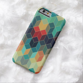 Modelo geométrico 2 de los cubos coloridos funda de iPhone 6 barely there