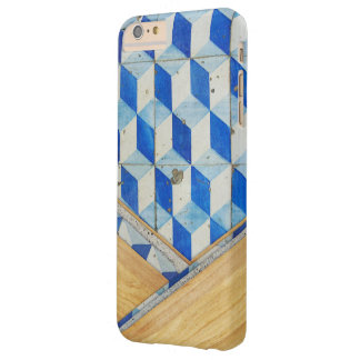 Modelo geométrico 3d del vintage con madera funda barely there iPhone 6 plus