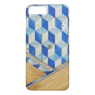 Modelo geométrico 3d del vintage con madera funda iPhone 7 plus