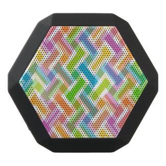Modelo geométrico abstracto colorido altavoces bluetooth negros boombot REX