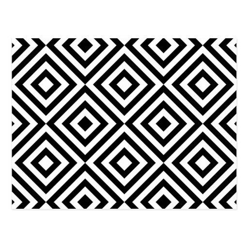 Modelo geométrico abstracto de los cuadrados, blan postales