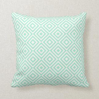 Modelo geométrico abstracto de los cuadrados, verd almohada