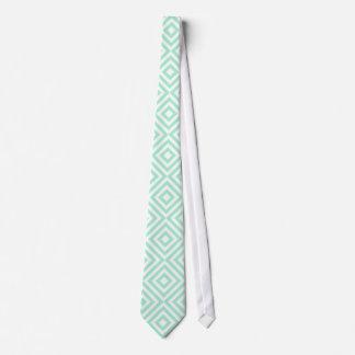 Modelo geométrico abstracto de los cuadrados, verd corbata personalizada