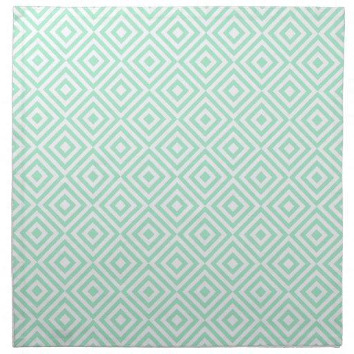 Modelo geométrico abstracto de los cuadrados, verd servilleta