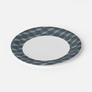 Modelo geométrico abstracto del fondo platos de papel