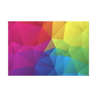 modelo geométrico abstracto diseño del triángulo impresión en lona