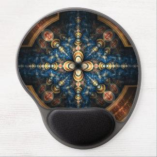 """Modelo geométrico abstracto """"portal """" del azul y alfombrillas con gel"""