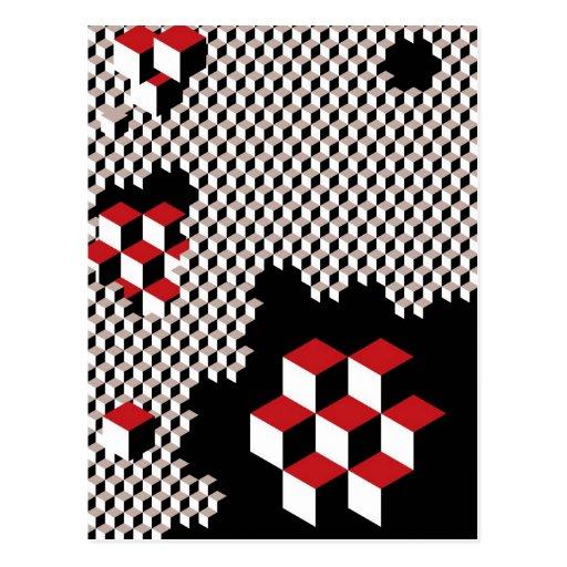 modelo geométrico abstracto postales