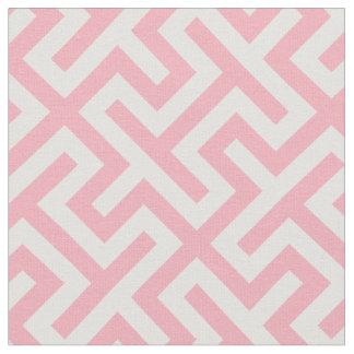 Modelo geométrico abstracto rosado y blanco telas