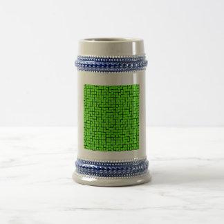 Modelo geométrico abstracto verde tazas de café