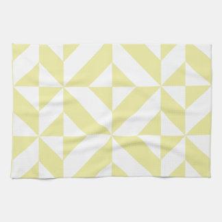 Modelo geométrico amarillo claro del cubo de Deco Toalla De Cocina