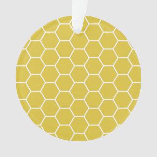 Modelo geométrico amarillo de moda del hexágono de
