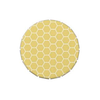 Modelo geométrico amarillo del hexágono del panal jarrones de caramelos