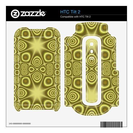 Modelo geométrico amarillo elegante skins para elHTC tilt 2
