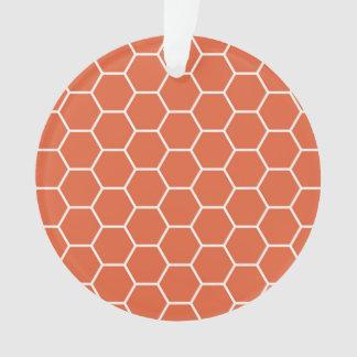 Modelo geométrico anaranjado brillante del hexágon