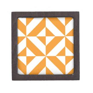 Modelo geométrico anaranjado quemado del cubo de cajas de regalo de calidad
