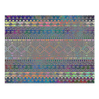Modelo geométrico azteca colorido fresco hermoso tarjeta postal