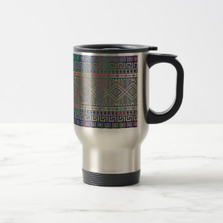 Modelo geométrico azteca colorido fresco hermoso taza